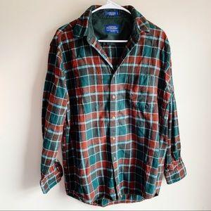 Pendleton Lodge Shirt Virgin Wool Button Holiday